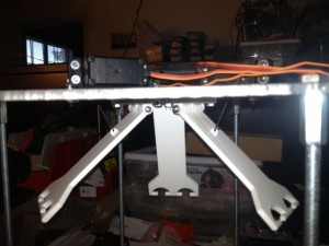 The servos are mounted into the new brackets and there are steel wires attaching the servos to the armatures.